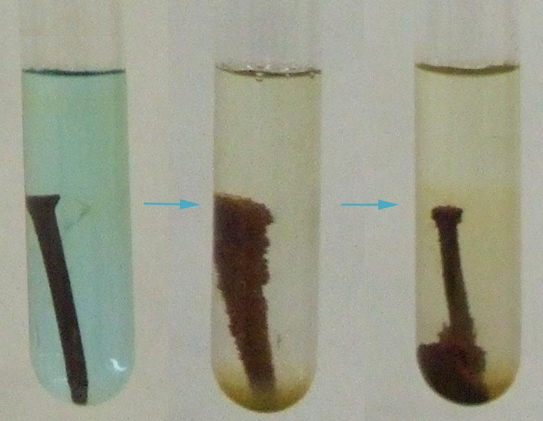 1 reacciones seg n la transformaci n que se produce - Clavos de cobre ...